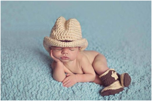 Cowboy Knitted Costume For Infants